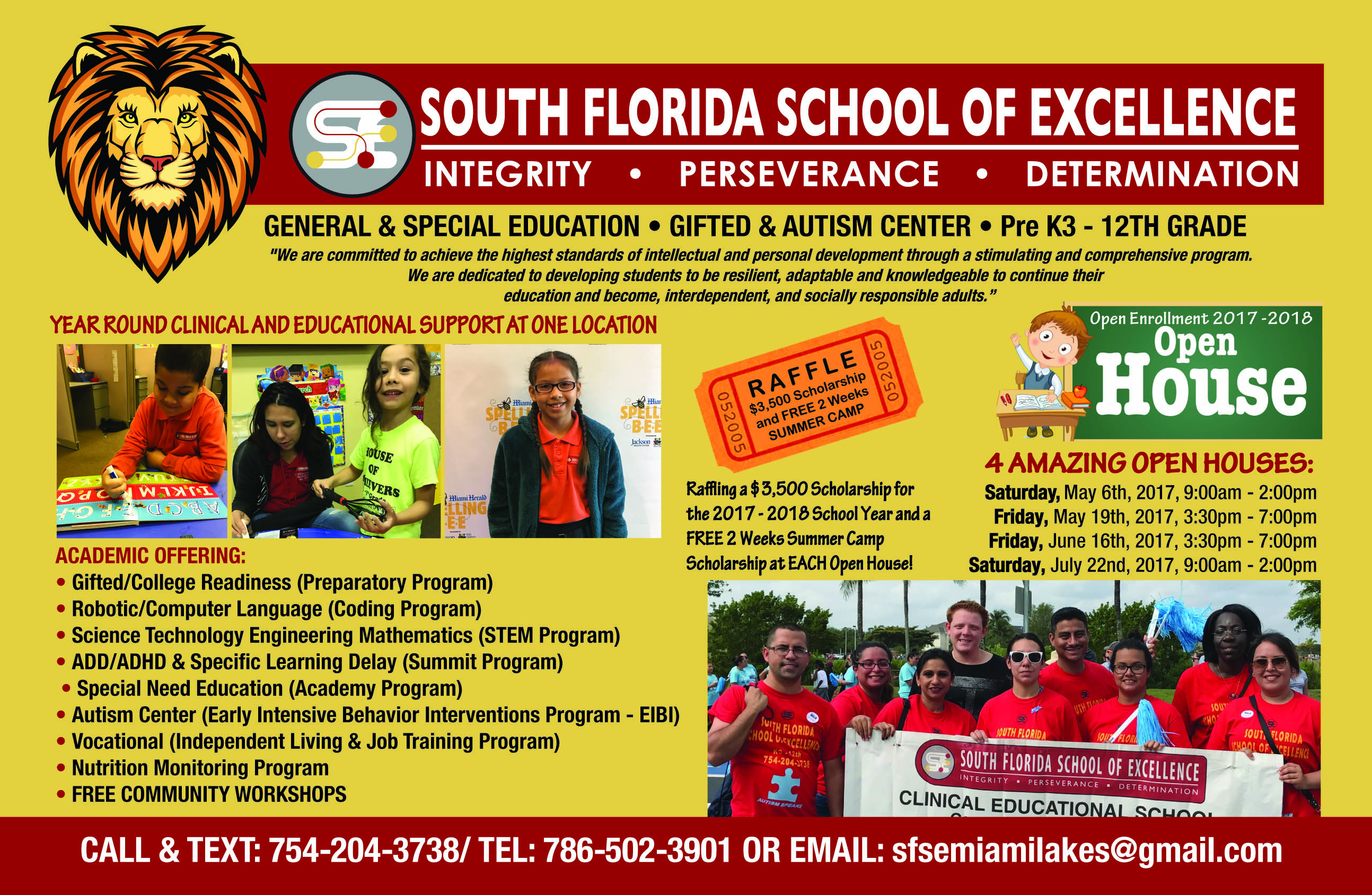 South Florida School of Excellence Flyer new1