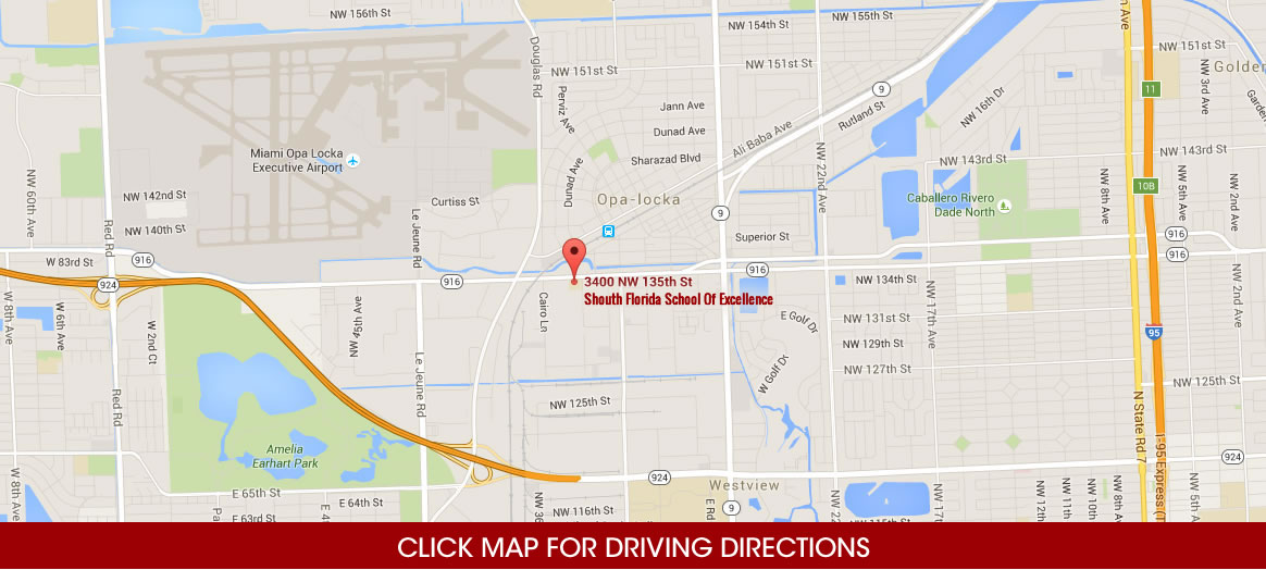 South Florida School Of Excellence Sfse Driving Directions